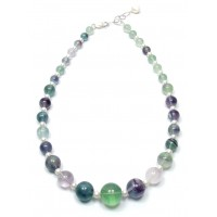 Extra Large Fluorite & Freshwater Pearl Necklace  Was £65, now £35!