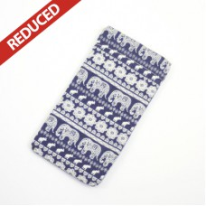 Navy Elephant Glasses Case