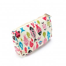 REDUCED! Colourful Fish Canvas Make-up Bag