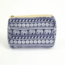 Navy Elephant Make-up Bag