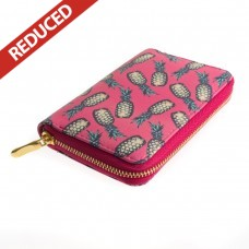 Bright Pink Pineapple Zipped Purse