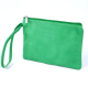 Large Italian Leather Coin Purse with Wrist Strap -( Only Bright Green or Tan Left)
