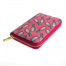Fuchsia Pink Pineapple Zipped Purse