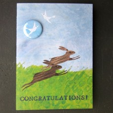 Rabbits 'Congratulations' Greetings Card