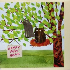 New Home  'Owl and the Pussycat' Greetings Card