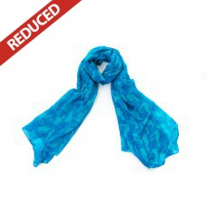 Bright Turquoise Cat Scarf