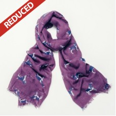 Purple Dog print scarf