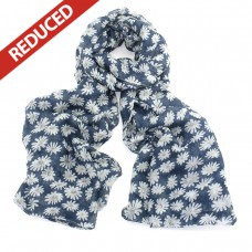 SOLD OUT! Navy Daisy Scarf