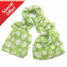 Lime Green Daisy Scarf