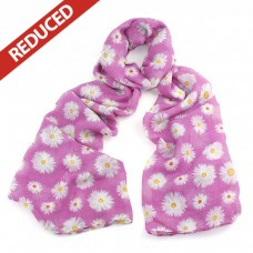 Pink Daisy Scarf