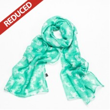 Bright Mint Green  Elephant Print Scarf
