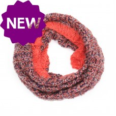 Coral/Orange Grey Purple Snood