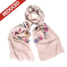 Pale Brown Colourful Beetle Scarf -ONE LEFT! (trying to order more)
