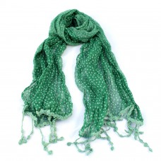 Bright Green Dotty Scarf