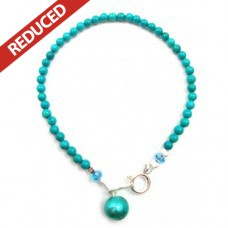 Turquoise & Pearl Bracelet - Sterling Silver