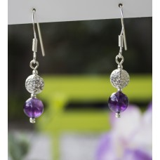 Amethyst Earrings -STERLING SILVER