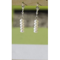 Freshwater Pearl Earrings - Sterling Silver