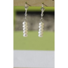 SOLD! Freshwater Pearl Earrings - Sterling Silver