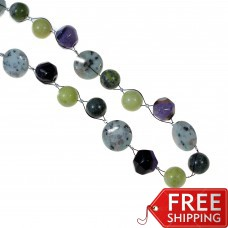 OUT OF STOCK Jasper Druzy Agate & Serpentine  Necklace