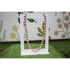 Large Natural Pink Pearl Necklace STERLING SILVER